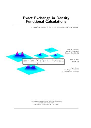 Exact Exchange in Density Functional Calculations
