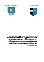 Unterhaltsreglement - Gemeinde Mettauertal