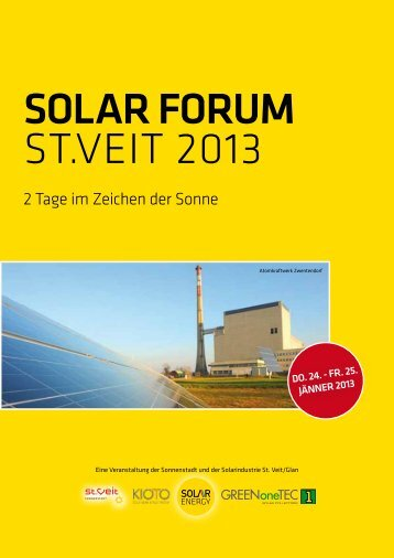 Solar Forum St.Veit 2013 - SEG Solar Energy GmbH