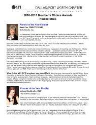 2010-2011 Member's Choice Awards Finalist Bios - Meeting ...