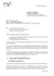 titularisation 2013 - CDG Gard