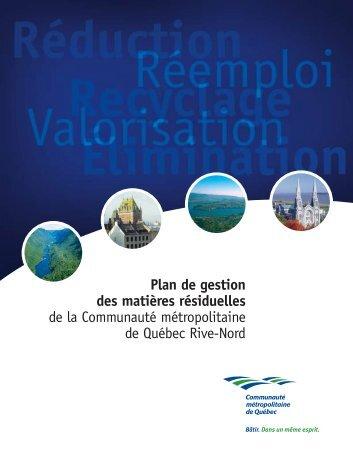 document complet - Plan de gestion des matières résiduelles de la ...
