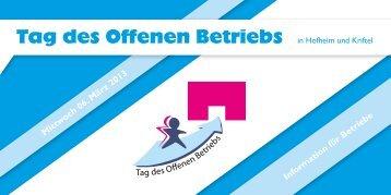 Tag des Offenen Betriebs in Hofheim und Kriftel am 06. März ... - OloV