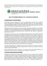 2013 INTERIM RESULTS ANNOUNCEMENT