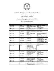 Box List - University of London