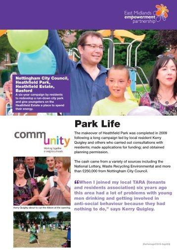 Heathfield Park, Basford, Nottingham - One East Midlands