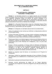 reglamento de la secretaria general de la comunidad andina