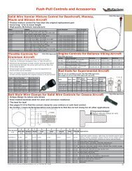 Rod End Eligibility and Application Charts - McFarlane Aviation ...