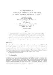 A Comparison of the Asynchronous Transfer of Control Features in ...