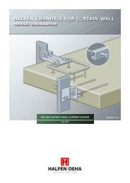 HALFEN CURTAIN WALL SUPPORT SYSTEM