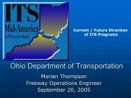 Ohio Department of Transportation: Status of ITS ... - ITS Midwest