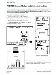 TX3-MDM Modem Module Installation Instructions - Mircom