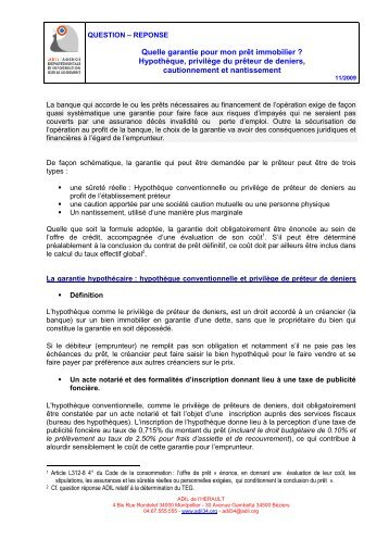 La garantie universelle des risques locatifs adil - Documents pret immobilier ...