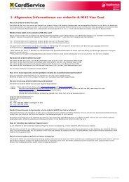 FAQs zur airberlin & NIKI Visa Card