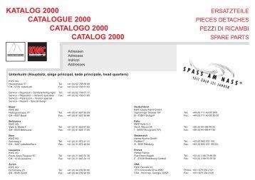 KATALOG 2000 CATALOGUE 2000 CATALOGO ... - Birchmeier AG