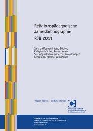 Religionspädagogische Jahresbibliographie ... - Comenius-Institut