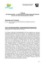 Nachtrag zum Protokoll: - Wassernetz NRW