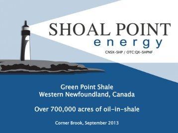 Board of Trade Presentation - Shoal Point Energy