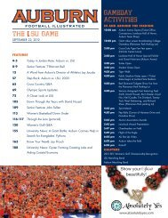 The LSU Game Gameday acTiviTieS - Auburn University Athletics