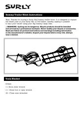 Dummy Trailer Hitch instructions Tools needed - Surly