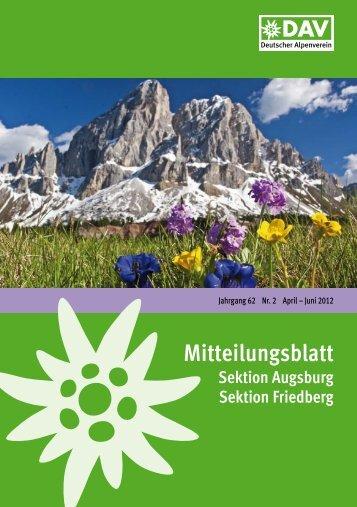 Mitteilungsblatt 2012/2 (PDF, 5,8 MB) - Alpenverein Augsburg
