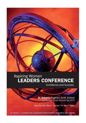 Aspiring Women Leaders Conference 2010 Programme - St Aidan's ...