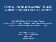Climate Change and Wildlife Refuges: - Desert Managers Group