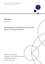 Development Of A Danish Thyroid Specific Quality Of Life Questionnaire