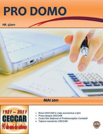 PRO DOMO mai_2011.pdf - C.E.C.C.A.R. – Filiala Brasov