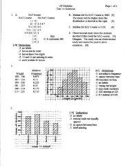 Test 1 Solutions - Thomas AP Statistics