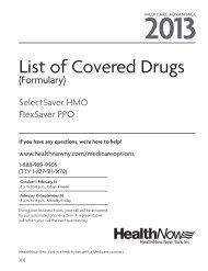 List of Covered Drugs - HealthNow New York