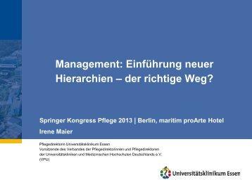 Maier, Irene: Einfuehrung neuer Hierarchien - Heilberufe