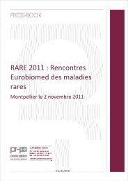 RARE 2011 : Rencontres Eurobiomed des maladies rares