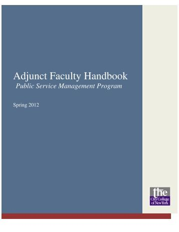 Adjunct Faculty Handbook - The City College of New York - CUNY