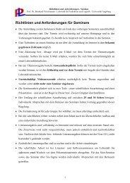 Richtlinien und Anforderungen für Seminare - WiWi - Universität ...