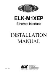 elk-m1xep installation manual - Homesecuritystore Download Server