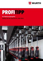 PROFITIPP - Ihr Werkzeugangebot - Würth