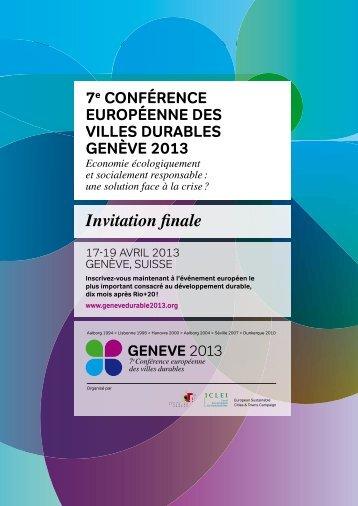 GENEVE 2013 - invitation finale - Etat de Genève
