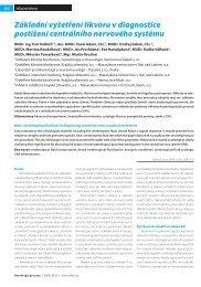Základní vyšetření likvoru v diagnostice postižení centrálního ... - Solen