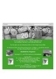 43. Jahrgang Freitag, den 28. September 2012 ... - Kohlberg