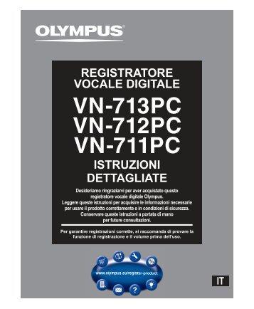 istruzioni dettagliate registratore vocale digitale - Olympus