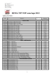 REMA TIP TOP cenu lapa 2012 - MC Rolls