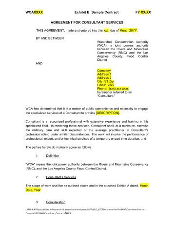 Caltrans landscape maintenance agreement sample contract for B b contract