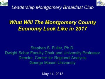 What Will The Montgomery County Economy Look Like in 2017