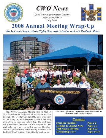 CWO News - USCG Chief Warrant and Warrant Officers Association
