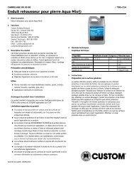 Enduit rehausseur pour pierre Aqua Mix® - Custom Building Products