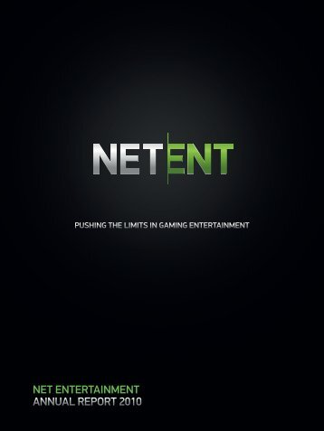 Net Entertainment Annual Report 2010
