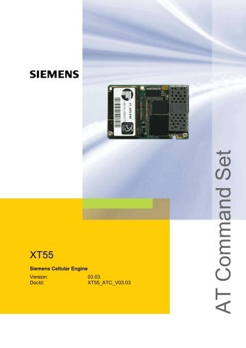 XT55 AT Command Set - Wireless Data Modules