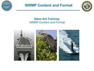 INRMP Content and Format - Dodworkshops.org