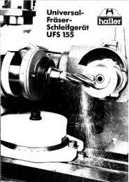 Page 1 Universel Fräser- Schleifger UFS 155 Page 2 Versrel/mög ...